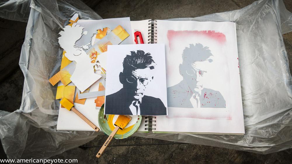 Samuel Beckett Stencil