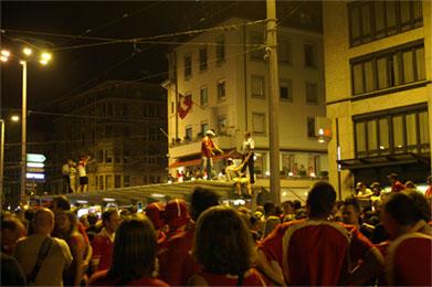 The crowds in Zurich