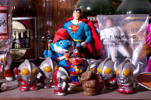 Superman and Papa Smurf