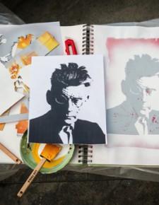 Stencil Experiment: Samuel Beckett
