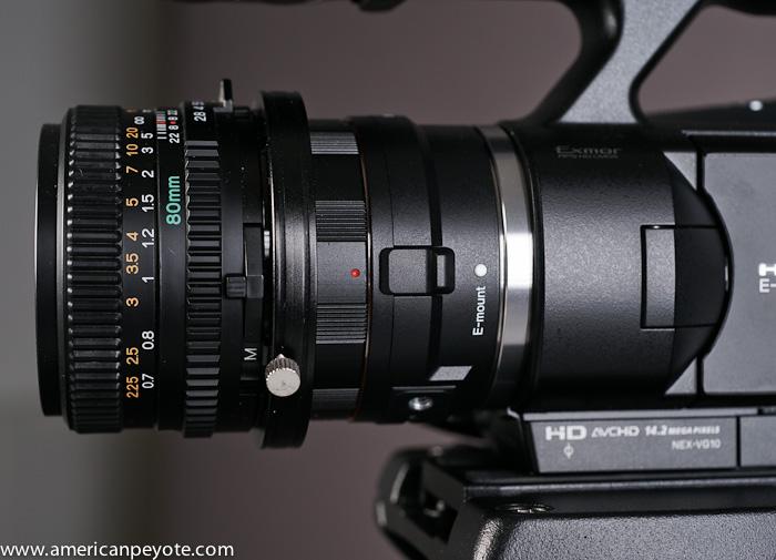 Sony NEX-VG10 Mamiya 80mm