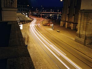 Zurich Night Limmatstrasse GA645